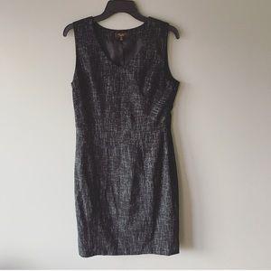The Limited Black V-neck Sheath Midi Dress Size 10